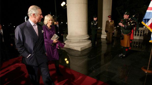 Prinčevski par na prijemu u Narodnoj skupštini
