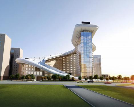 SLALOM ZGRADA Na vrhu stambene zgrade u Kazahstanu planira se izgradnja skija...