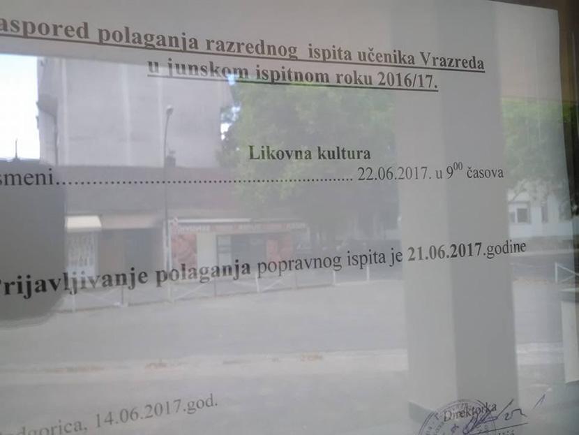 Crnogorac oborio osnovce, deca moraju sada na popravni iz LIKOVNOG! (FOTO)