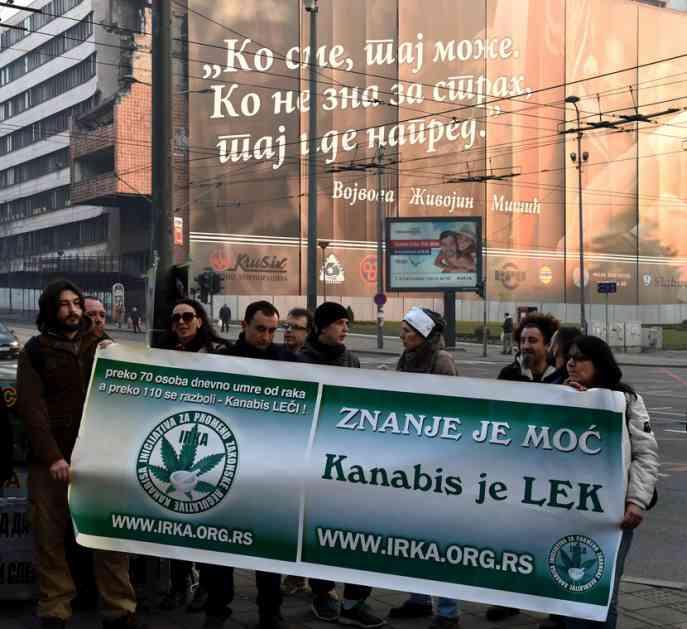 """""""Kanabis je lek"""": Održan skup ispred vlade, traže legalizaciju marihuane u medicinske svrhe (FOTO)"""