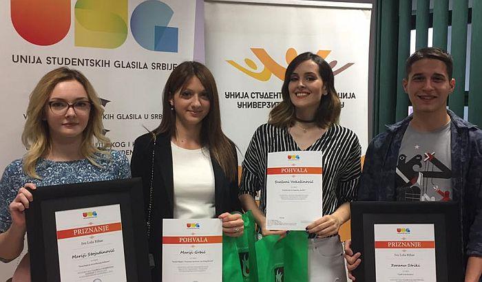 Novinar Radija 021 Zoran Strika dobitnik nagrade Unije studentskih glasila Srbije