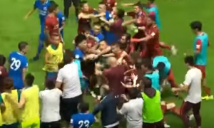 Odgovor ga je zaboleo: Brazilac isprovocirao Piksijeve igrače, pa dobio po nosu (VIDEO)