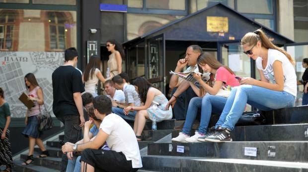 Studenti u Beogradu protiv ulaska Srbije u NATO i EU