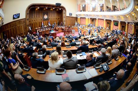 Završena rasprava u skupštini, u ponedeljak o amandmanima