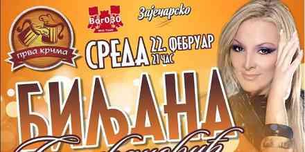 Biljana Sečivanović večeras nastupa u Prvoj krčmi u Boru