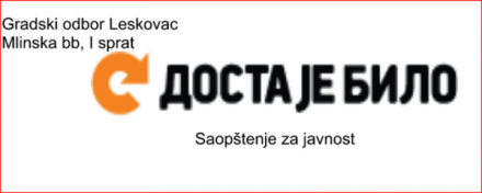 DJB: Transformacijom lokalne samouprave u Leskovcu zaposleni partijski vojnici
