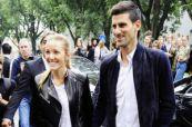 Jelena i Novak Đoković na Armanijevoj reviji u Milanu