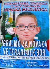 Najava: Humanitarna utakmica – Veterani OFK BOR-a za malog Novaka – Petak 26.maj od 17 časova