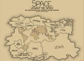 Najneobičnija mapa: Kada bi planete bile kontinenti... (FOTO)