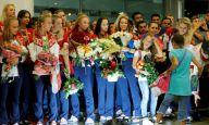 Rusija je neuništiva: Sportisti iz Rija dočekani kao heroji u Moskvi