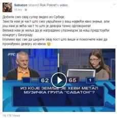 Sanja Milovanović u Slagalici odgovorila tačno na pitanje o bendu Sabaton, a onda su je oni čak iz Švedske oduševili