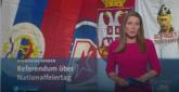 Šta se ovde dogodilo? Izveštaj o referendumu, a iza voditeljke zastave Srbije, Crvene Zvezde, Putina...