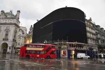 Ugašene reklame na londonskom Piccadilly Circus-u