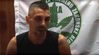 Uhapšen srpski borac za legalizaciju lečenja kanabisom