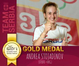 (VIDEO) ANDREA STOJADINOV OSVOJILA ZLATO: Nova medalja za Srbiju na EYOF-u