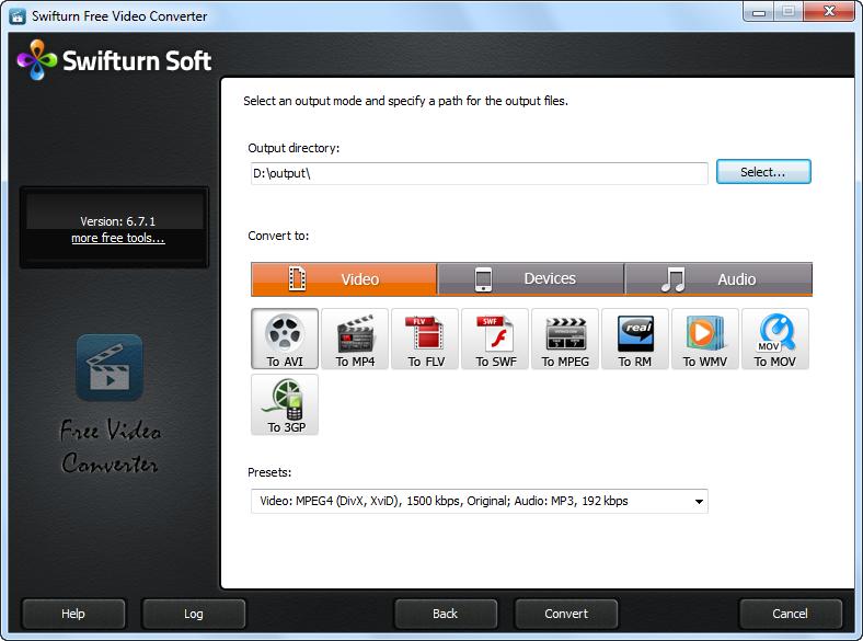 Swifturn Video Converter - konvertovanje video snimaka besplatno
