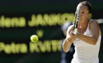 (VIDEO) SRUŠILA ŠAMPIONKU: Jelena Janković pobedila Kvitovu i plasirala se u osminu finala