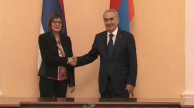 Odnosi Srbije i Jermenije tradicionalno prijateljski