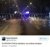 Podgorica: Suzavcem na demonstrante pred zoru