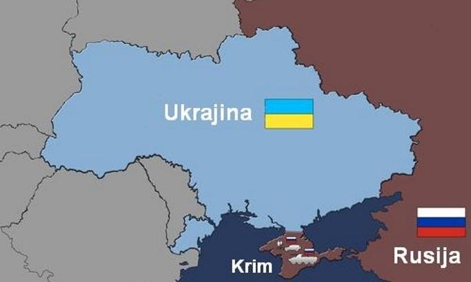 Ukrajina Besna Zbog Mape Krim Je Ukrajinski Rusija Ga Je Okupirala