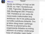1 od 5 miliona: Obustaviti pripreme za miting SNS u Vranju