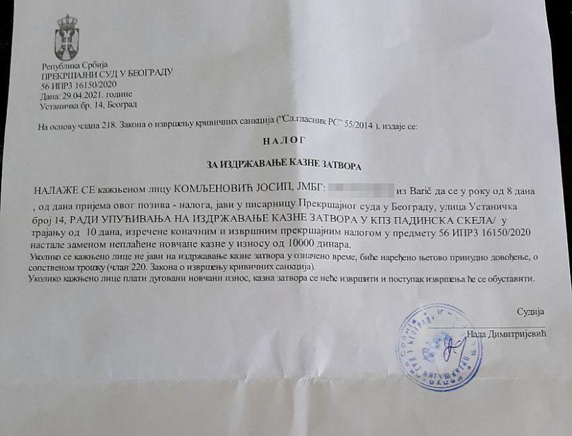 10 dana zatvora za frulaša iz Knez Mihailove – nepravda je brza, a i neizbežna