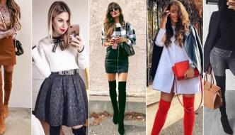 10 načina kako ove zime nositi čizme iznad koljena