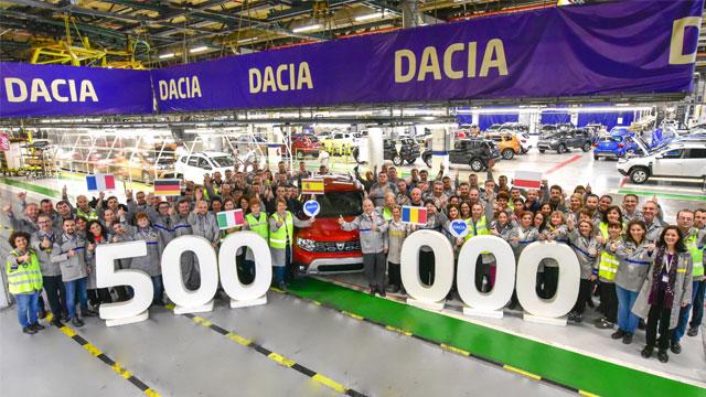 13.12.2019 ::: Proizveden 500.000. Dacia Duster u fabrici u Mioveniju