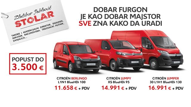 14.10.2018 ::: Citroen komercijalna vozila - subvencionisani lizing i popusti do 3.500 evra