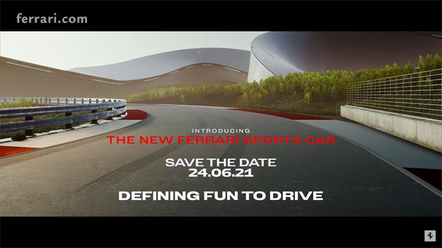 17.06.2021 ::: Ferrari će sledeće sedmice pokazati svoj novi sportski model (VIDEO)