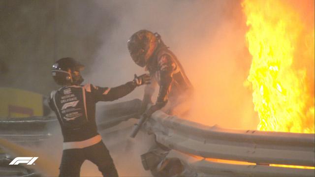 29.11.2020 ::: VN Bahreina 2020 - Grosjean u poslednjem trenutku izašao iz zapaljenog bolida, Hamilton pobednik (VIDEO)
