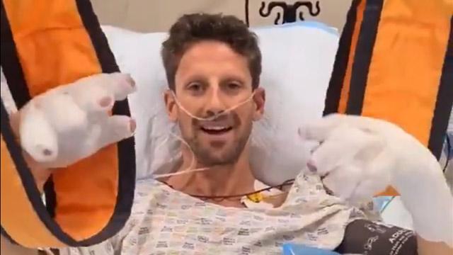 30.11.2020 ::: Romain Grosjean se nasmejan javio iz bolničke postelje (VIDEO)