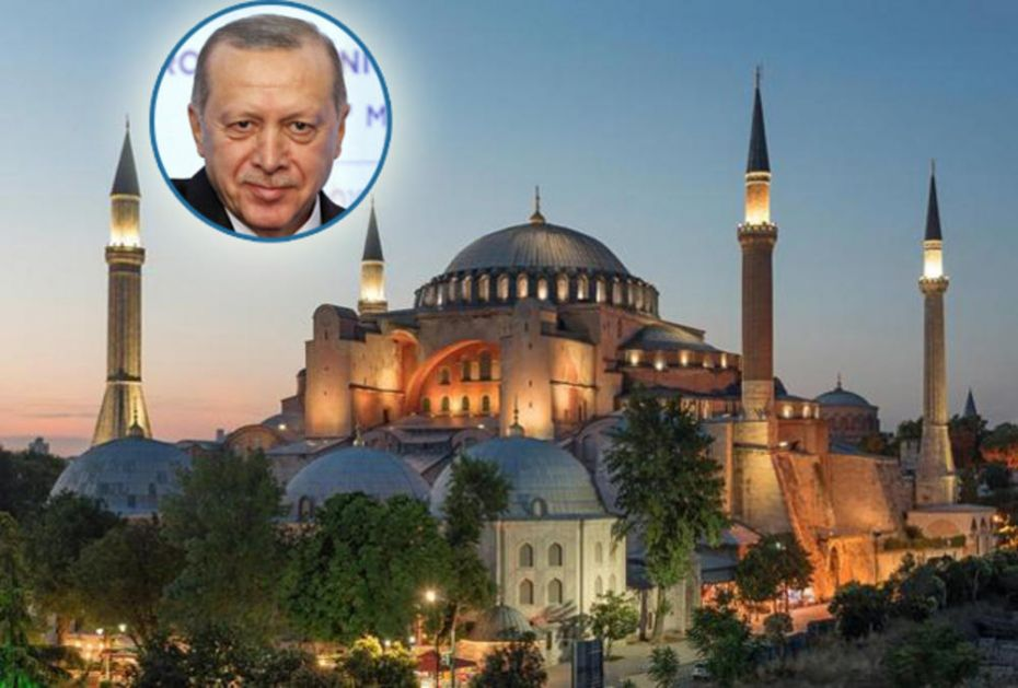 AJA SOFIJA I ZVANIČNO POSTAJE DŽAMIJA: Erdogan ostvario svoje osmanlijske zamisli