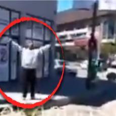 ALAHU AKBAR I PRETNJE SRBIMA: Užasna scena iz Raške, muškarac sa nožem u ruci poručio da će zaklati sve (VIDEO)