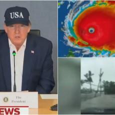 AMERIKANCI STRAHUJU OD ČUDOVIŠNE OLUJE: Tramp apelovao na građane da slušaju upozorenja o URAGANU DORIJANU! (VIDEO)