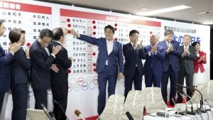 Abeova koalicija bez dvotrećinske većine u gornjem domu japanskog parlamenta