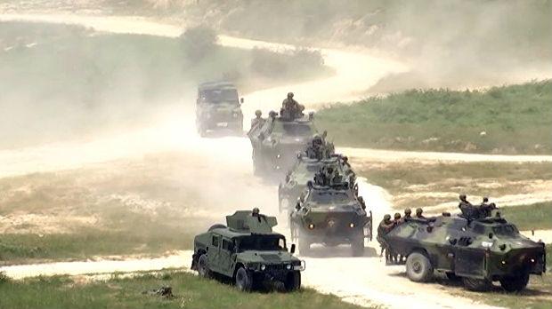 Petsto vojnika kod Bujanovca – vežba patrola, specijalnih vozila i helikoptera