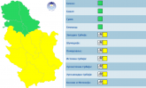 Aktivira se alarm: Stiže sneg, skoro cela Srbija u žutom