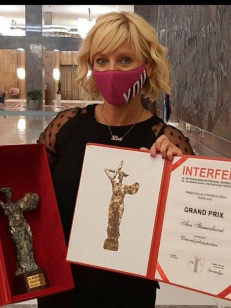 Ani Stamenković grand prix Zlatna Nika za dokumentarac Dnevnik jednog proleća