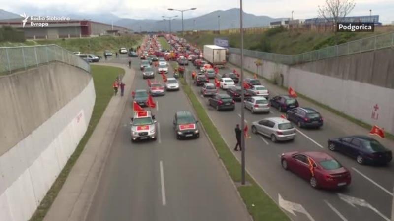 Antivladin auto protest u Podgorici