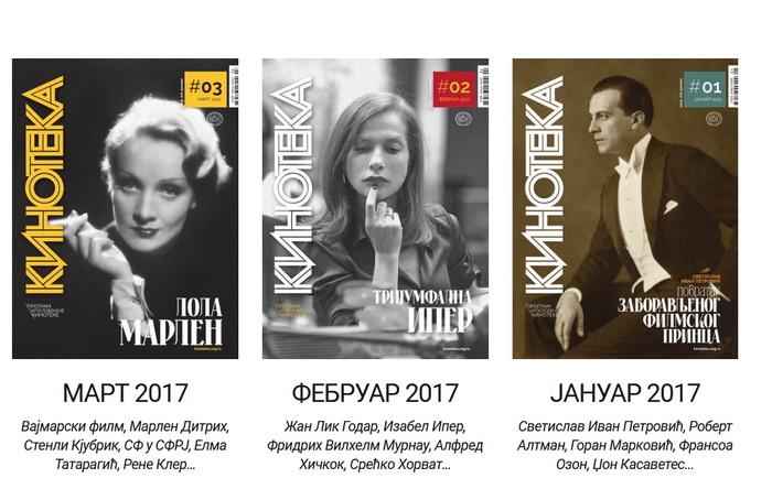 "Arhiva časopisa ""Kinoteka"" dostupna onlajn"