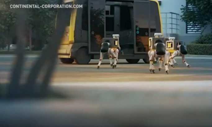 Armija pasa robota dostavlja vam paket iz vozila bez vozača (VIDEO)