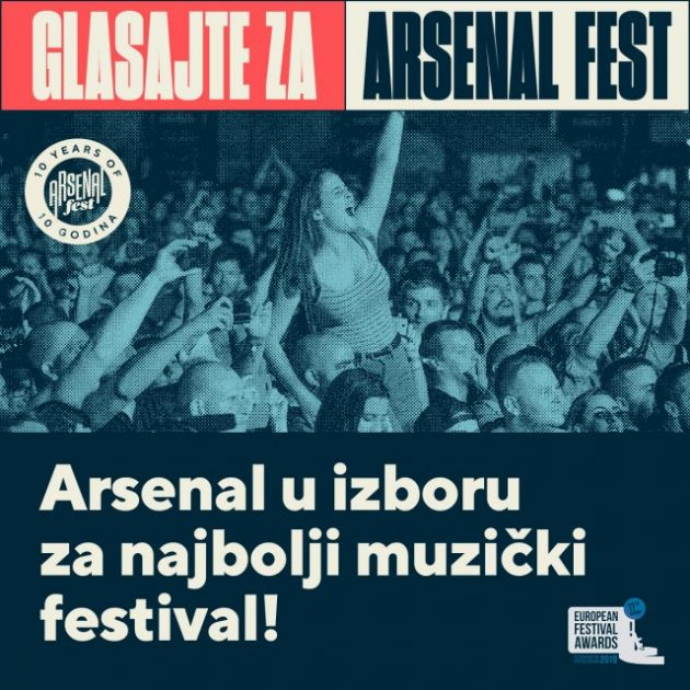 Arsenal fest u trci za Evropsku festivalsku nagradu