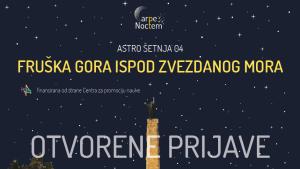 Astro šetnja 4. jula na Fruškoj Gori