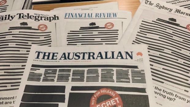 Australijska štampa redigovanim naslovnim stranama pita državu: Šta krijete od nas?