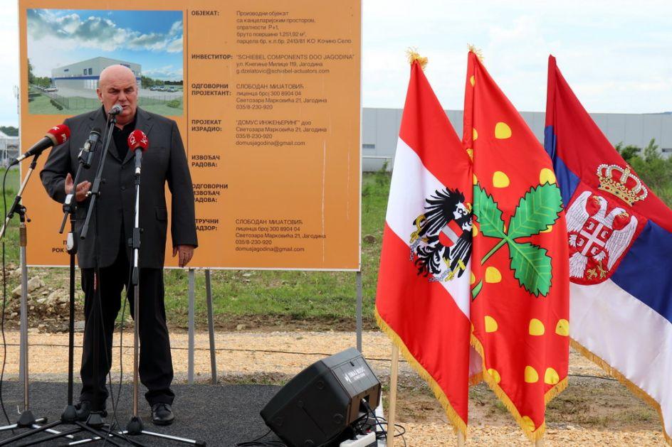Austrijski Šibel počeo gradnju fabrike u Jagodini