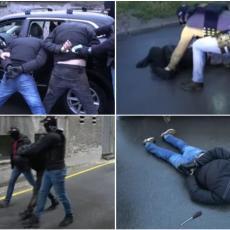 BEOGRADSKA POLICIJA HAPSI KAO NA FILMU! U par poteza savladali dve osobe nakon krađe automobila (VIDEO)