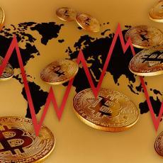BITKOIN JUTROS U CRVENOJ ZONI: Najpoznatija kriptovaluta i dalje ISPOD 36,000 dolara