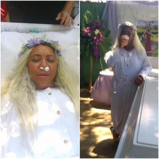 BIZARNA CEREMONIJA: Žena organizovala probu sopstvene sahrane, satima ležala u mrtvačkom kovčegu i gledala narikače VIDEO