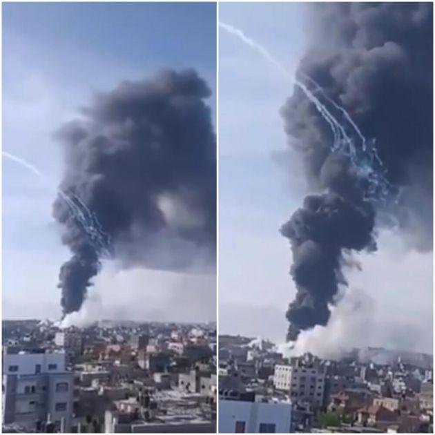 BOMBA KOJA TOPI LJUDSKO MESO: Zabranjena fosforna bomba navodno je bačena na Pojas Gaze VIDEO
